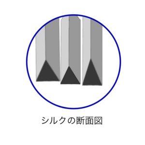 シルクの断面図イラスト