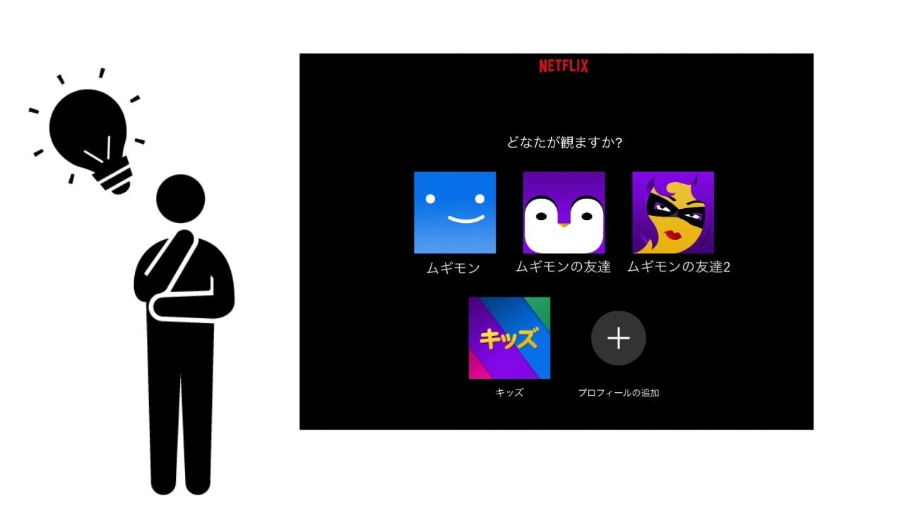 ネットフリックスのプロフィール画面の画像