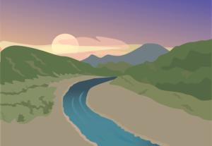 川のイラスト